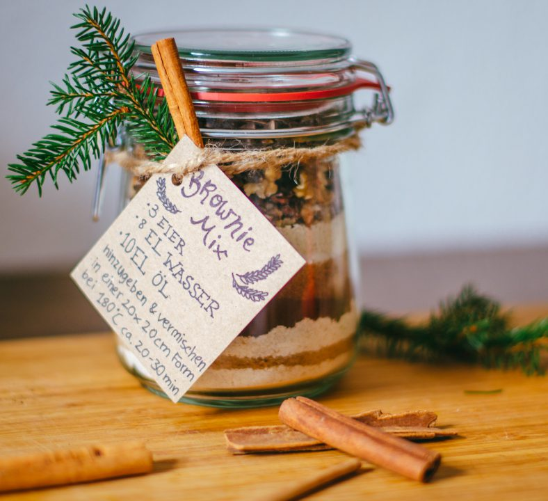 """DIY in a jar"" Browniemischung"