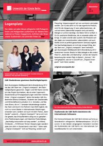 Logenplatz im UdK-Newsletter